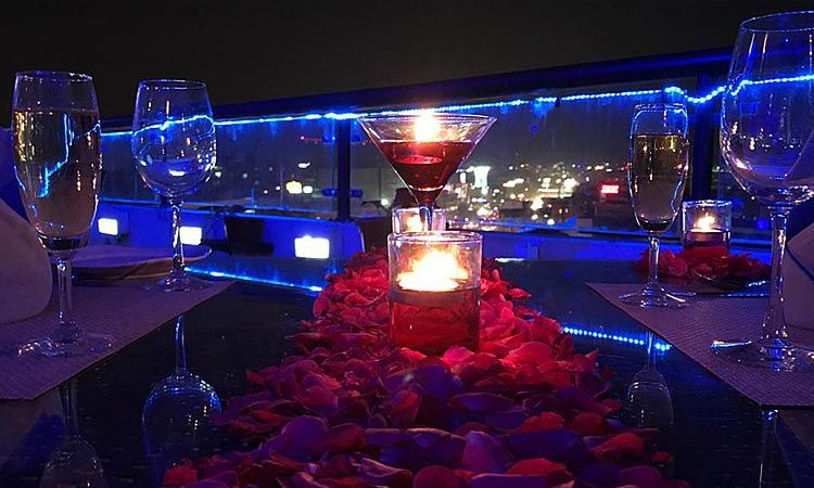 Romantic Rooftop Candlelight Dinner