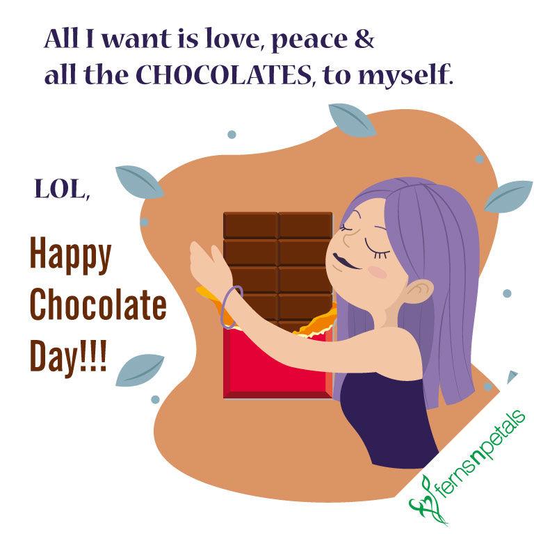 happy chocolate day wishings