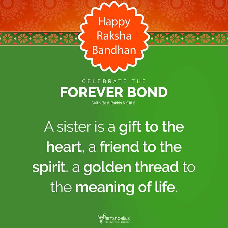 rakhi quote for sister