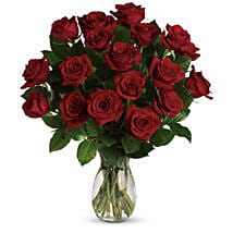 18 Red Roses Bouquet: Send Miss You Flowers to Australia