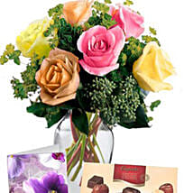 6 Mixed Roses Combo: Mother's Day Gift Delivery in Australia