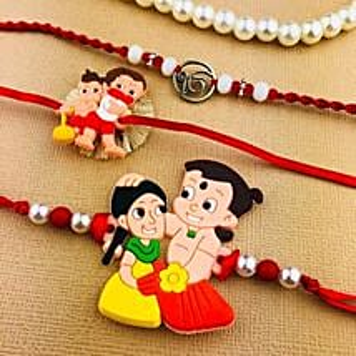 Bhai Rakhi with Two Kids Rakhi Set: Send Rakhi for Kids to Australia