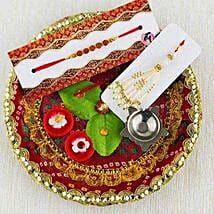 Decorative Rakhi Puja Thali: Rakhi for Bhaiya Bhabhi Australia