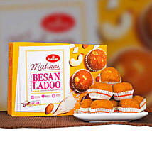 Delicious Besan Ladoo 400g: Send Birthday Gifts to Australia
