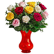 Dozen Assorted Roses: Send Birthday Gifts to Canberra