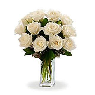 Dozen White Roses: Order Flowers Adelaide