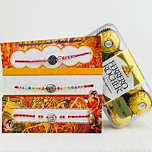 Hum Three Rakhi set with Farrero Rochar: