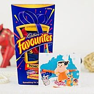 Pyari Kids Rakhi With Cadbury Favorite: Rakhi for Kids Australia