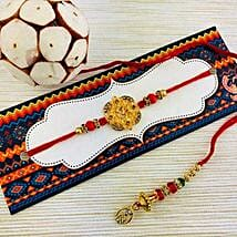 Set Of 2 Rakhi Designer: Send Rakhi for Bhaiya Bhabhi to Australia