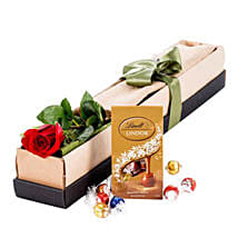 Single Stem Red Rose With Chocolate: Roses to Australia