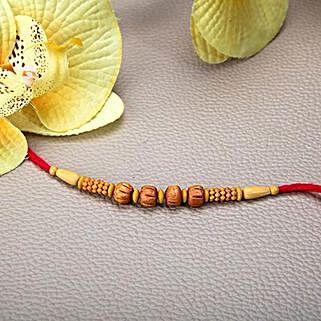 Wooden Beads Rakhi: Send Rakhi to Bhutan