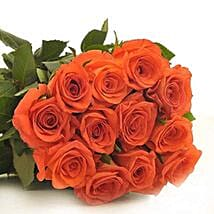 12 Orange Roses: Flower Delivery in Canada