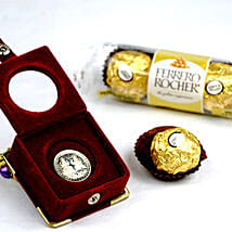3 Ferrero Rocher And Silver Coin: Mother's Day Gift Delivery in Canada