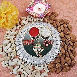 Acrylic Round Dry Fruits Thali: Bhai Dooj Gifts to Canada