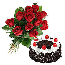 Black Forest Cake N Roses: Send Flowers to Canada