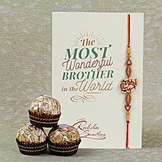 Designer Rakhi And Ferrero Rocher: Rakhi and Chocolates to Canada