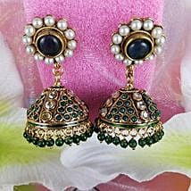 Embellished Antique Earrings: Rakhi Gifts for Sister in Canada