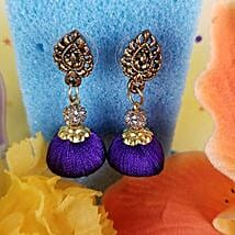 Gorgeous Thread Earrings Blue: Send Jewellery to Canada