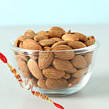 Om Rakhi And Almonds 100Gms Combo: Rakhi Delivery in Canada