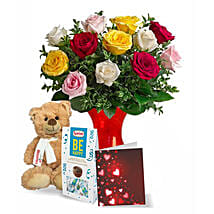Teddy N Chocolate Greets: Valentine's Day Roses Canada