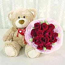 Bear n Flower A3 CIN: Valentine's Day Gifts to China