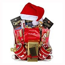 Santa Christmas Tea Basket: Send Gifts to Denmark