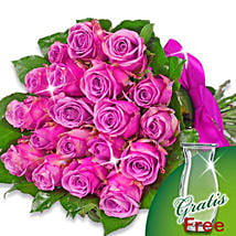 Bunch of 20 purple roses: Congratulations Flowers to Germany