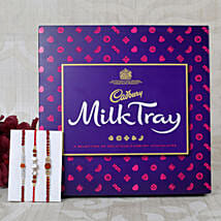 Three set Cadbury Rakhi Hamper: Send Rakhi to Greece