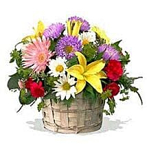 Mixed flower basket INDO: Send Gifts to Indonesia