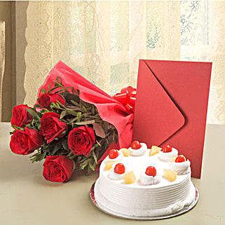 Roses N Cake Hamper: Send Gifts to Indonesia