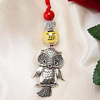 Trendy Owl Lumba Rakhi: Rakhi Gifts to Jordan