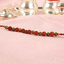 Rudraksha Bead Rakhi: Send Rakhi to Korea