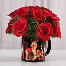 15 Red Roses Picture Mug: Flowers for Anniversary