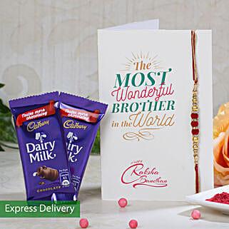 2 Cadbury And Rakhi Combo: Rakhi with Chocolates