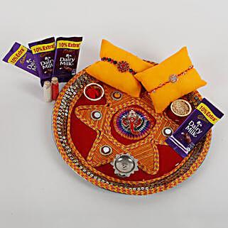 2 Rakhis And Cadbury Chocolates Combo: Rakhi Gifts to Patna