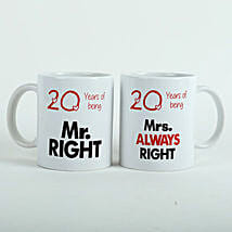 Always Right Couple Mugs White: Send Gifts to Chavakkad