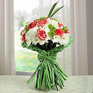 Artistic Bunch Of Carnations: Designer Bouquet