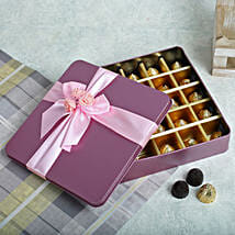 Assorted Chocolates Pink Box: Gifts Delivery In Jubilee Hills
