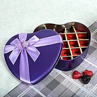 Assorted Chocolates Purple Heart Box: Cakes to Buxar