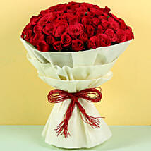 Authentic Love 100 Roses: Valentine Flowers Varanasi