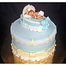 Baby In The Crib Fondant Cake: Cakes for Baby Shower