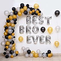 Balloon Décor For Best Bro Ever: Decoration Services in Hyderabad