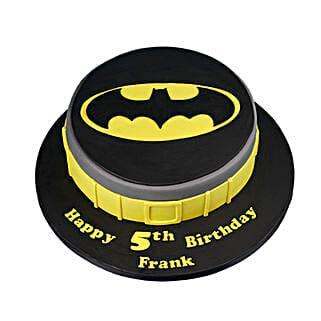 Batman Symbol Cake: Cartoon Cakes