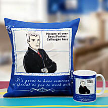 Be the Boss Personalized Cushion and Mug: Gifts for Boss