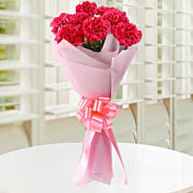 Beautiful Pink Carnations Bouquet: Anniversary Flowers