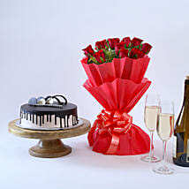Beautiful Red Rose Hamper: Gifts to Vidisha