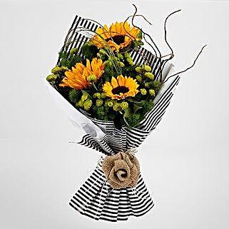 Beautiful Yellow Sunflowers Premium Bouquet: Exotic Flowers