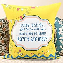Birthday Message Cushion: