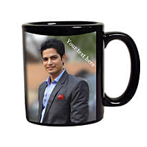 Black Mug Personalized: Personalised Friendship Day Gifts