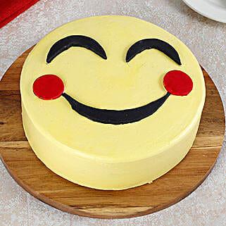 Blush Emoji Cake: Butter Scotch Cakes